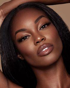 Dark Skin Makeup, Dark Skin Beauty, Natural Makeup, Organic Makeup, Face Makeup, Black Girl Makeup, Girls Makeup, Afro Punk, Beauty Make-up