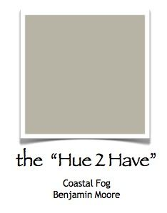 Coastal Fog by Benjamin Moore (warm gray) going to paint my dining room this color! ---- this gray has a little of the taupe in it so it wouldn't be as drastic of a change from the current paint color (if that is necessary)