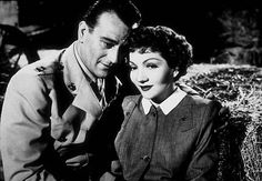"""""""Without Reservations,"""" RKO 1946. John Wayne and Claudette Colbert."""