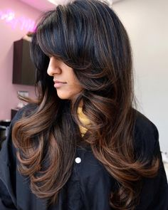 50 Prettiest Long Layered Haircuts with Bangs for 2020 - Hair Adviser Very Short Bangs, Long Layers With Bangs, Haircuts For Long Hair With Layers, Layered Haircuts With Bangs, Long Hair With Bangs, Easy Hairstyles For Long Hair, Hairstyles With Bangs, Curly Layers, Shag Hairstyles