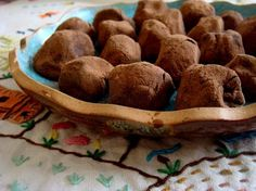 Banana Docinhos com Cacau- Brazilian sweets made from bananas and cocoa. Fun, healthy snack for kids to make, especially if studying the rainforest or South America.