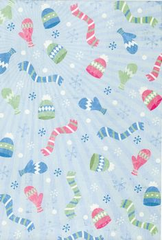 winter abric snow hats gloves
