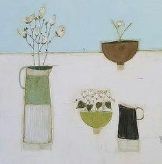 Irish art gallery showing works by artist Eithne Roberts Irish Art, Plant Illustration, Doorway, Still Life, Holiday Cards, Flower Power, Magnolia, Planting Flowers, Vintage World Maps