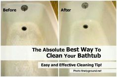 Beau The Absolute Best Way To Clean Your Bathtub