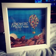 Adorable shadow box idea for pressed pennies