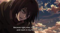 Attack on Titan Season 2 Episode 11 Attack On Titan Season 2, Tak Tak, I Dont Have Time, Eremika, Another Anime, Passed Away, Time Out, Mikasa, My Heart