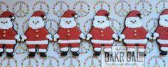 Santa Cookies // BAKRGAL Handcrafted Sweets