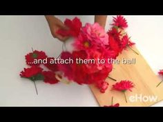 How to Make Hanging Flower Balls (with Pictures) | eHow