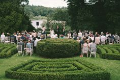 Outdoor open air wedding humanist ceremony in private estate in Ireland