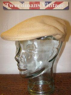 Vintage Wool Felt Flat Cap. Tweedmans Vintage 1c6591b25df8