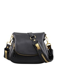 Jennifer Medium Leather Crossbody Bag by Tom Ford at Neiman Marcus. I love this bag and I love anything with zippers!