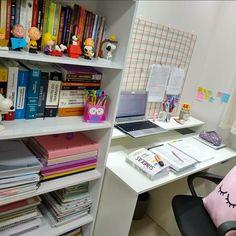 Study Table Designs, Study Room Design, Study Room Decor, Home Room Design, Home Office Design, Girl Bedroom Designs, Room Ideas Bedroom, Workspace Inspiration, Room Inspiration