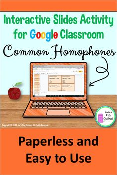 This digital resource provides a complete and engaging lesson on common homophones. Students work interactively with the slides to highlight text, drag and drop text boxes, and type responses in text boxes. Teaching Schools, Elementary Schools, Teaching Ideas, Interactive Activities, Learning Activities, Common Homophones, Google Teacher, Response To Intervention, English Teaching Resources