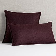 Italian Wool Pillow Cover - Plum