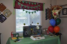 My son's retro/vintage teenage mutant ninja turtles themed birthday decor