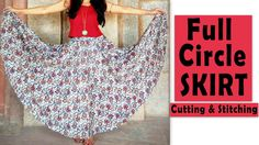 Welcome to Stalk My Closet! In todays video I am sharing Full Circle Skirt Cutting & Stitching. Thanks for watching and don't forget to LIKE, SHARE & CO. Long Circle Skirt, Circle Dress, Full Circle Skirts, Circle Skirt Tutorial, Shirt Tutorial, Umbrella Skirt, Dress Sewing Patterns, Skirt Patterns, Coat Patterns