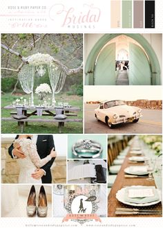 Retro Mint Wedding Inspiration Board by @Rose Murphy | Bridal Musings Wedding Blog