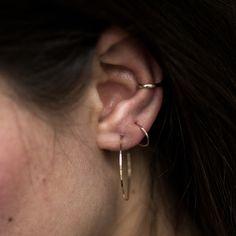 Hoop Dream Earring, yellow gold (single) - Earrings - Catbird