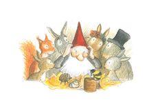 Eva Eriksson - Grantel bei den Kaninchen: Ist das der Weihnachtsmann?