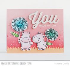 Hi all! I'm back with a card for My Favorite Things  July Release Countdown Day 1. For my card, I mix and match the new product to made a fu...