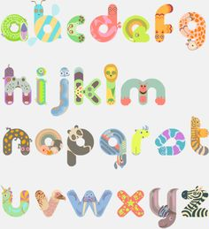 Items similar to Self Print - Animal Alphabet on Etsy Animal Alphabet, Animal Letters, Alphabet Art, Letter Art, Typography Served, Cool Typography, Typography Letters, Typography Poster, Art Mots