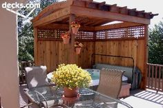 Backyard hot tub ideas outdoor spa privacy screens 46 Ideas for 2019 Hot Tub Pergola, Hot Tub Backyard, Deck With Pergola, Fire Pit Backyard, Pergola Patio, Backyard Patio, Pergola Ideas, Pergola Kits, Pergola Shade
