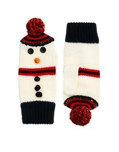 ASOS Snowman Mittens