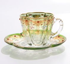 """19th Century glass signed """"Moser"""