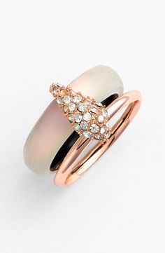 The sparkly crystals on this ring adds just the right amount of glitz.