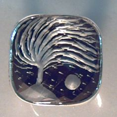 """The storm"" Quartz reverse intaglio ring"