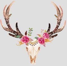 Flower Deer Skull.