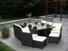 patio rattan black furniture black garden furniture