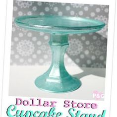 Dollar store cupcake stand DIY candle plate,candle holder glue martha stewart paint and brush Just In Case, Just For You, Crafts To Make, Diy Crafts, Cake And Cupcake Stand, Cupcake Display, Cupcake Holders, Candle Holders, Cupcake Wars