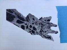 Photo VCarve on Melamine board Giraffe