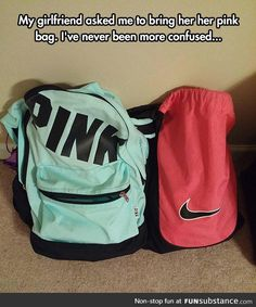 Funny pictures about Her Pink Bag. Oh, and cool pics about Her Pink Bag. Also, Her Pink Bag photos. Funny Quotes, Funny Memes, Hilarious, Jokes, Math Quotes, Math Memes, Student Memes, Funny Humour, Funny Vid