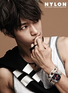 """INFINITE's L has provided fans double the dose of hotness with two pictorials! While he lets down his guard to let Kim Myung Soo shine for his down-to-earth pictorial for 'Vogue Girl', he turns up the heat with his other pictorial for 'Nylon'.  About the 'Vogue Girl' shoot, L shared, """"I wanted to show Kim Myung Soo's [L's real name] comfortable and friendly lifestyle as a young man."""