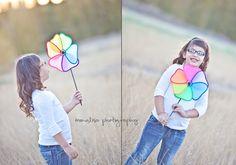 Rainbows & butterflies tween pose