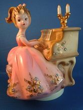 Josef Originals Music Box Girl at Piano
