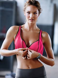 """I've been looking for a max support running bra that would also work well with nursing.  I thought they didn't exist, but when I found that the Knockout by Victoria's Secret is also a Front-Close Sport Bra, I thought : """"omg, this could actually work with nursing!  Run, unzip, unclip, nurse, done!"""""""