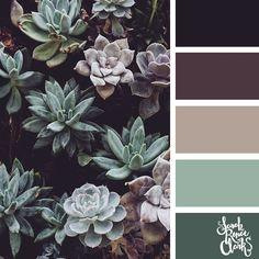 """""""Plum & Succulents"""", Mystery Color Palette Box – Mary's Secret World - Modern Living Room Color Schemes, Colour Schemes, Color Combos, Color Schemes For Bedrooms, Apartment Color Schemes, Paint Schemes, House Color Schemes, Best Color Combinations, Kitchen Color Schemes"""