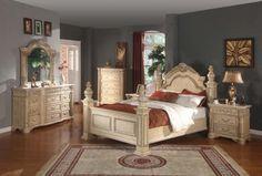Sienna Bedroom w/Panel Bed & Optional Case Goods