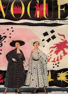 Jean Patchett & Carmen DellOrifice Vogue Magazine Cover April 1, 1949
