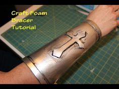 How To Make Faux Leather From Craft Foam. Great for Steampunk Fashion! - YouTube So many tutorials! But I love the idea of using the aluminum foil for texture!