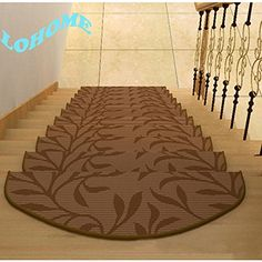 LOHOME ( TM) 28*65CM Set of 6 Casual Living Premium Modern Nylon Resilient Moistureproof Non-slip Colorfast Carpet Stair Treads Convenient Affordable Make Steps Safer Rug (C) LOHOME http://www.amazon.com/dp/B00RFCXZ0I/ref=cm_sw_r_pi_dp_ITvgvb0WY0FDA