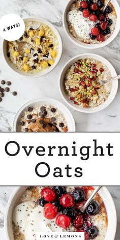 Overnight Oats Recipe - Love and Lemons