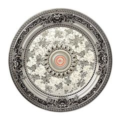 """Petite Silver #Medallion Round 24"""" Dia Hand Finished DIY screws to ceiling Free shipping @gop @asid"""