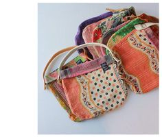 Sew little bags from quilts