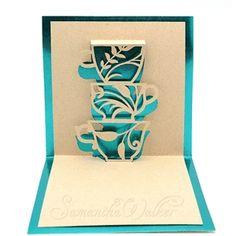 CARD POP UP LACE TEA CUPS by Samantha Walker Design ID #25002