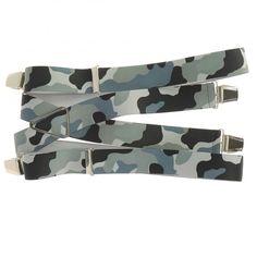 Bretelles larges fantaisistes motif militaire pour hommes 35 mm. Bretelles  4 bandes élastiques avec 4 pinces en inox. Réglage simple des bretelles à  votre ... 1e73a9511a57