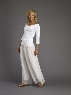 white cotton palazzo outfit